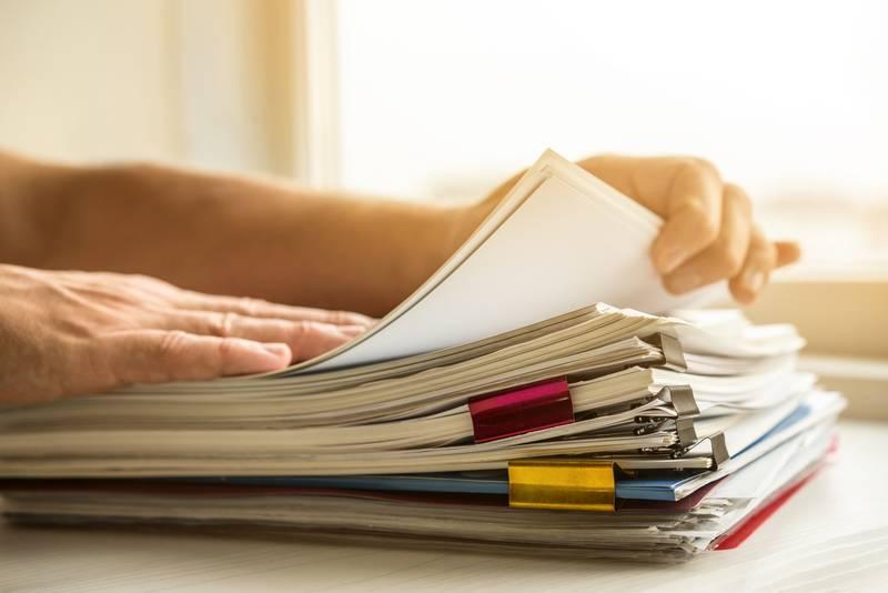 Armazenamento de documentos trabalhistas