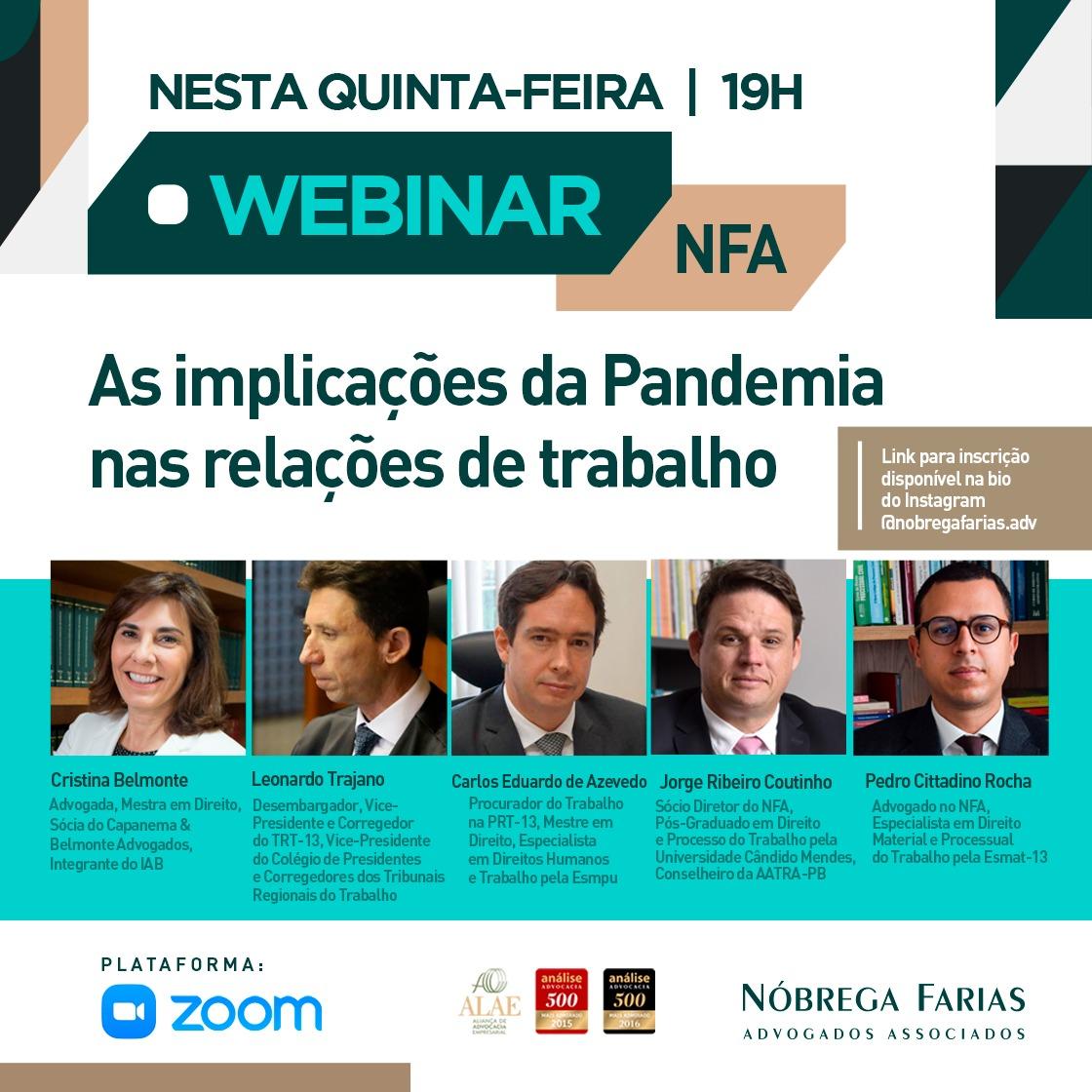 Live – As implicações da Pandemia nas relações de trabalho